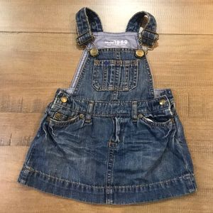 Baby girl denim overalls